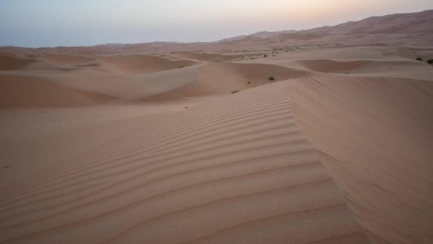 Beautiful Rub al Khali desert at the dawn United Arab Emirates Time-lapse stock footage video