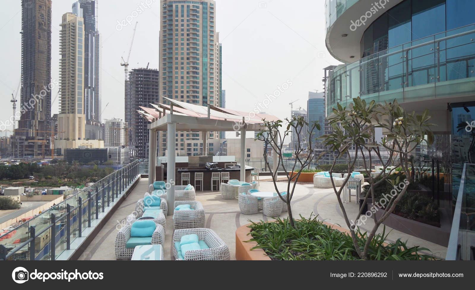 Open Terrace Of The Hotel Damac Maison Dubai Mall Street