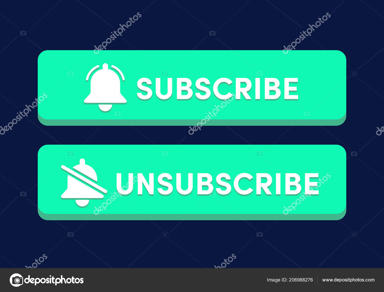 Text Box Subscribe Button Template Notification Bell Icon