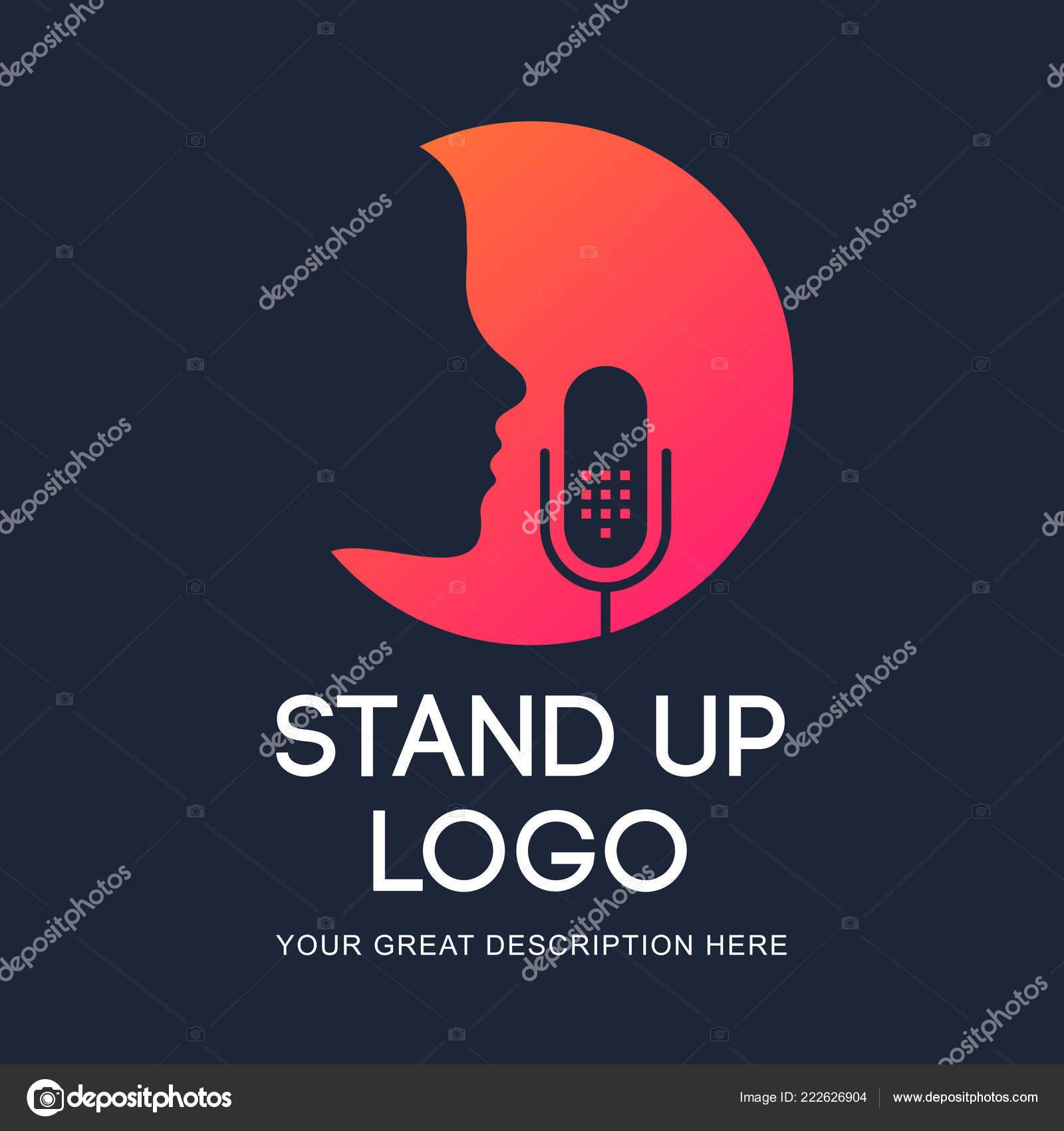 Podcast Radio Icon Illustration Studio Table Microphone