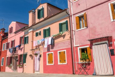 Colorful old houses in Burano, Venice, Italy.
