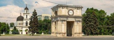 The Triumphal Arch in Chisinau, Moldova