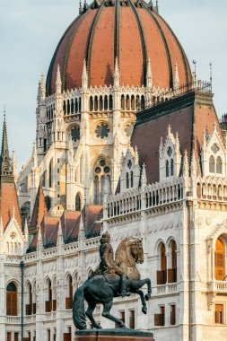 Detail of the parliament building in Budapest