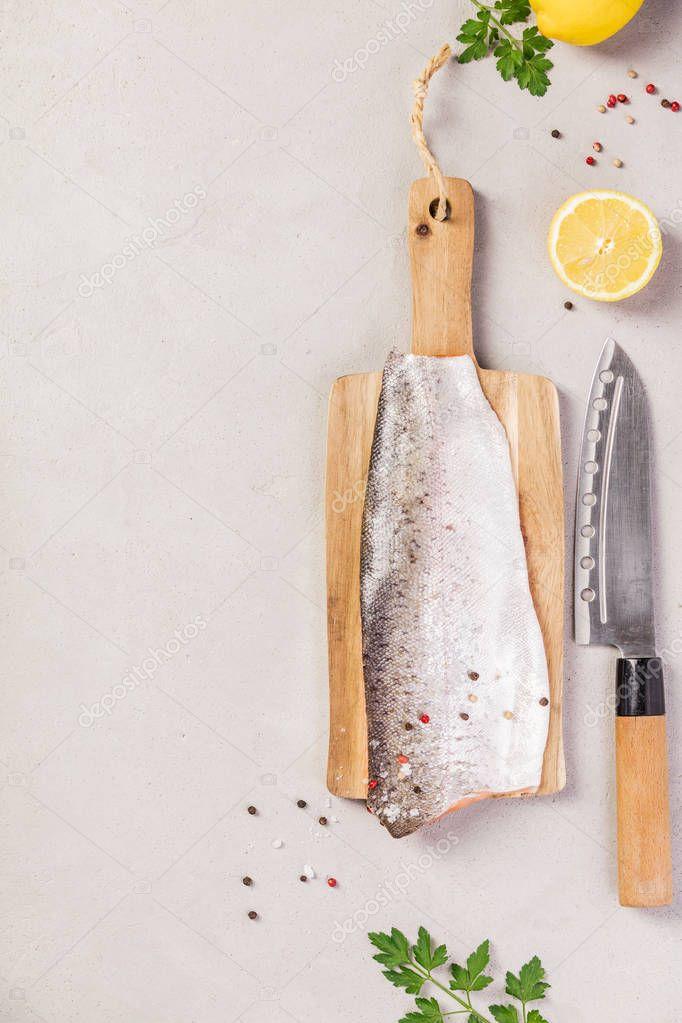 Delicious fresh salmon filet