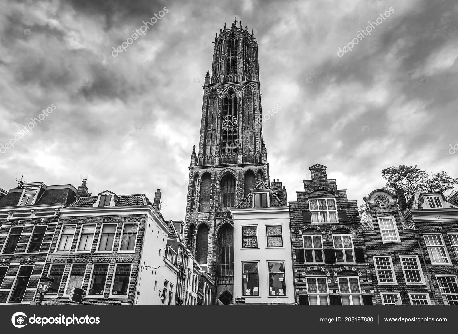 Ancient european church in utrecht black white photo photo by innervision
