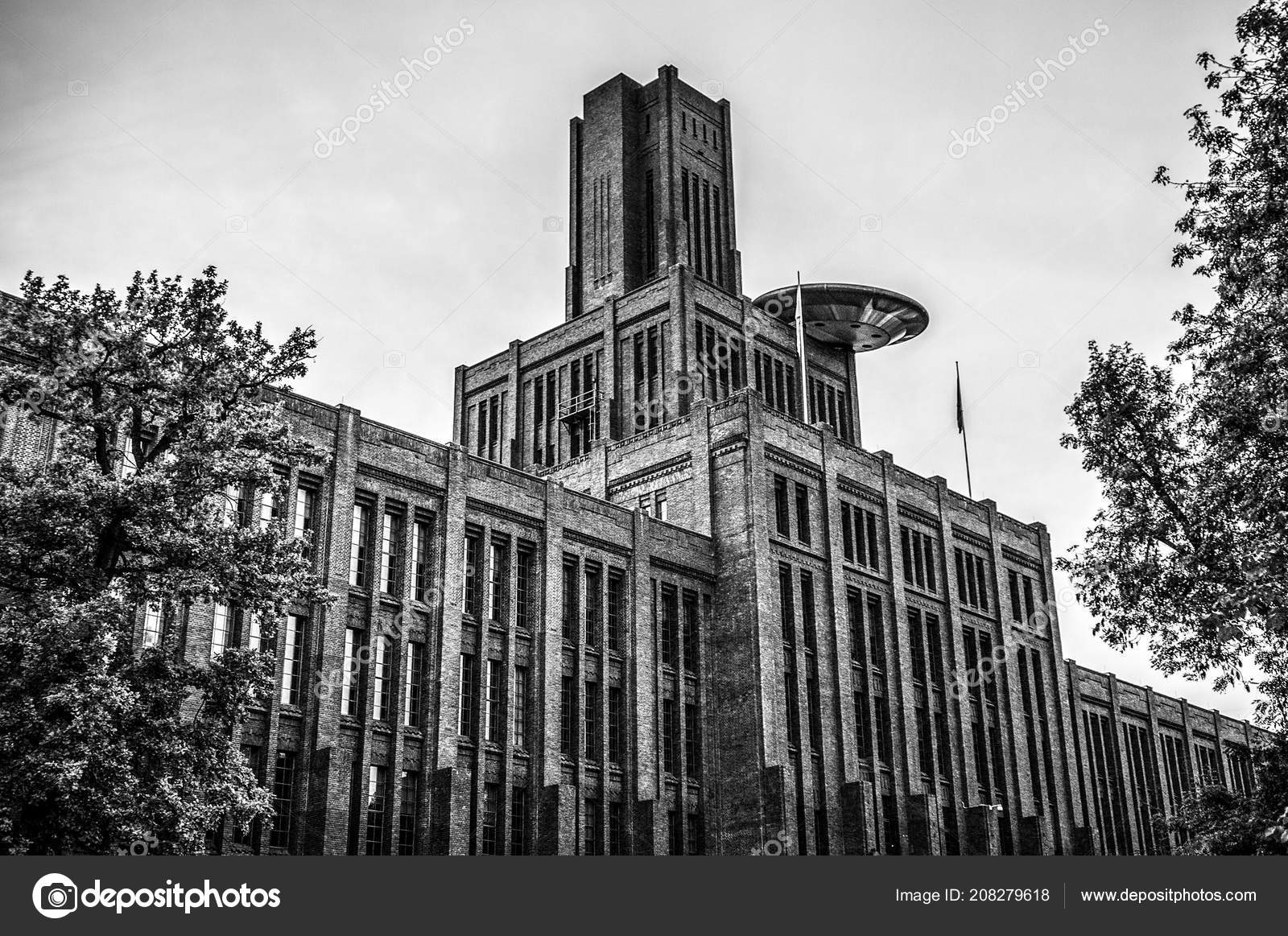 Netherlands utrecht may 2017 modern city architecture black white photo stock photo