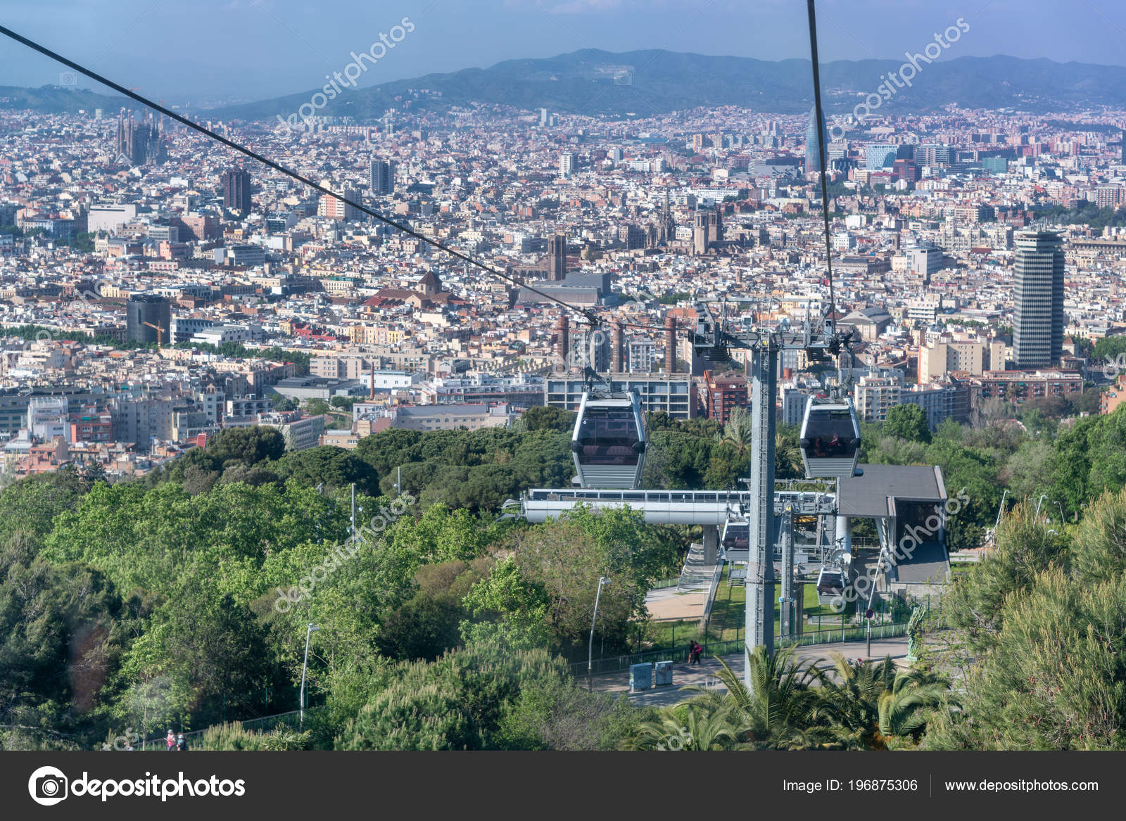 Aerial View Barcelona Spain Stock Photo C Jovannig 196875306