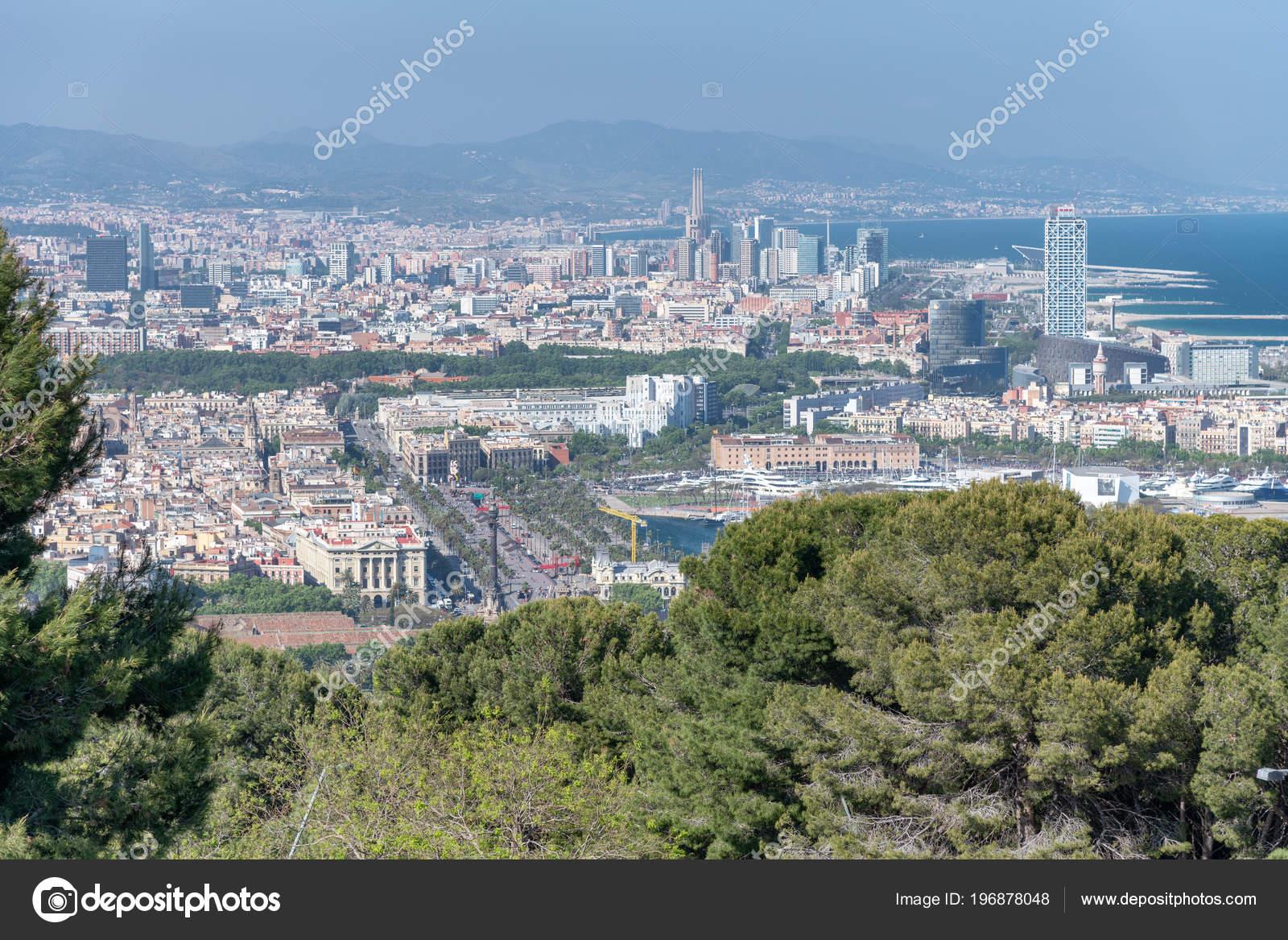 Aerial View Barcelona Spain Stock Photo C Jovannig 196878048
