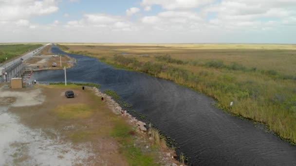 aerial view of Everglades swamp landscape, Florida, USA , video