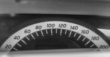 Car tachimeter. Closeup of dashboard.