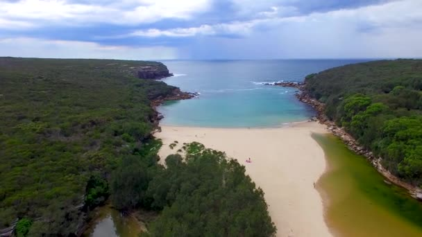 Panoramic view of shore in Royal National Park near Sydney, Australia, video