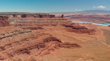Canyon walls of Dead Horse Point State Park, Utah.