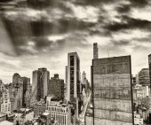 Fotografie Panorama Manhattanu, letecký pohled na New York City