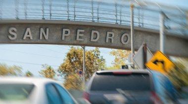 San Pedro city sign, California.