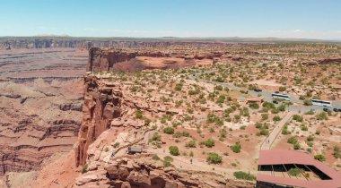 Aerial panoramic view of beautiful american canyon.