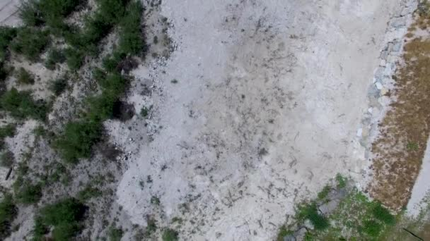 Dry Rocky River, Ansiei Valley in Italian Dolomites, Italy, video