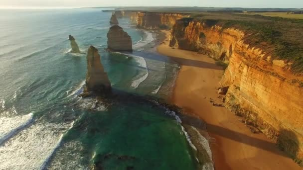 Wonderful view of 12 Apostles in Victoria, Australia. Video