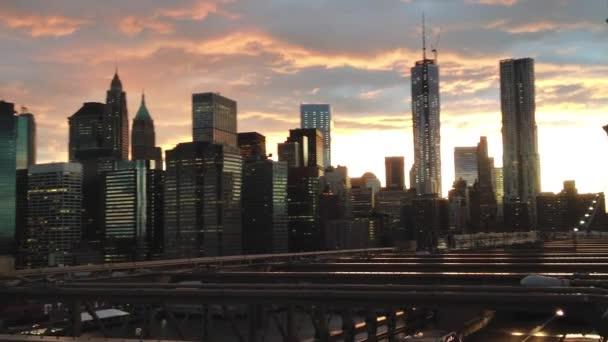 amazing New York Downtown Manhattan skyline at night, USA