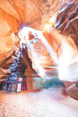 Beautiful view of light inside Antelope Canyon, Arizona.