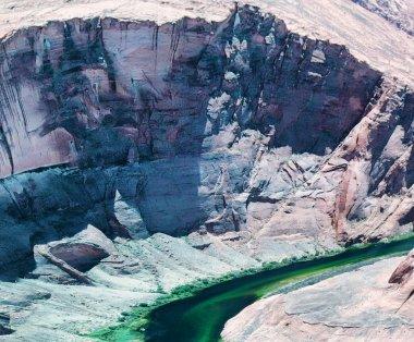 Aerial view of Horseshoe Bend, Arizona.