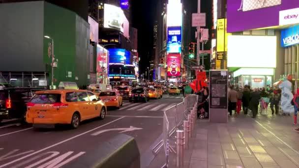 záběry městské scény z Timesquare, New York, USA