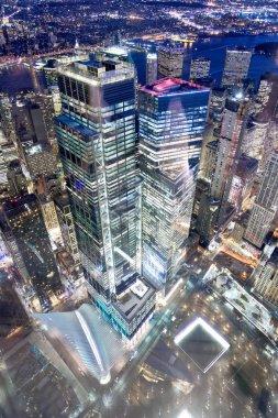 NEW YORK CITY - DECEMBER 7, 2018: Manhattan aerial skyline in Wo