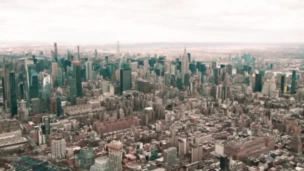 urban scene footage of beautiful New York city, USA