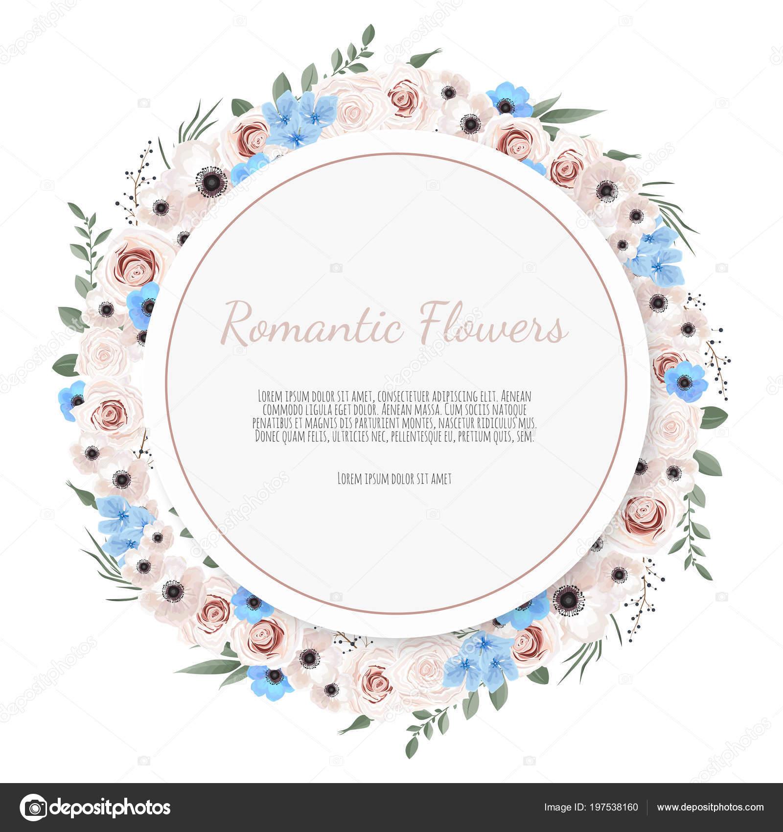 Tarjeta Diseño Floral Vector Felicitación Boda Postal Invitar ...