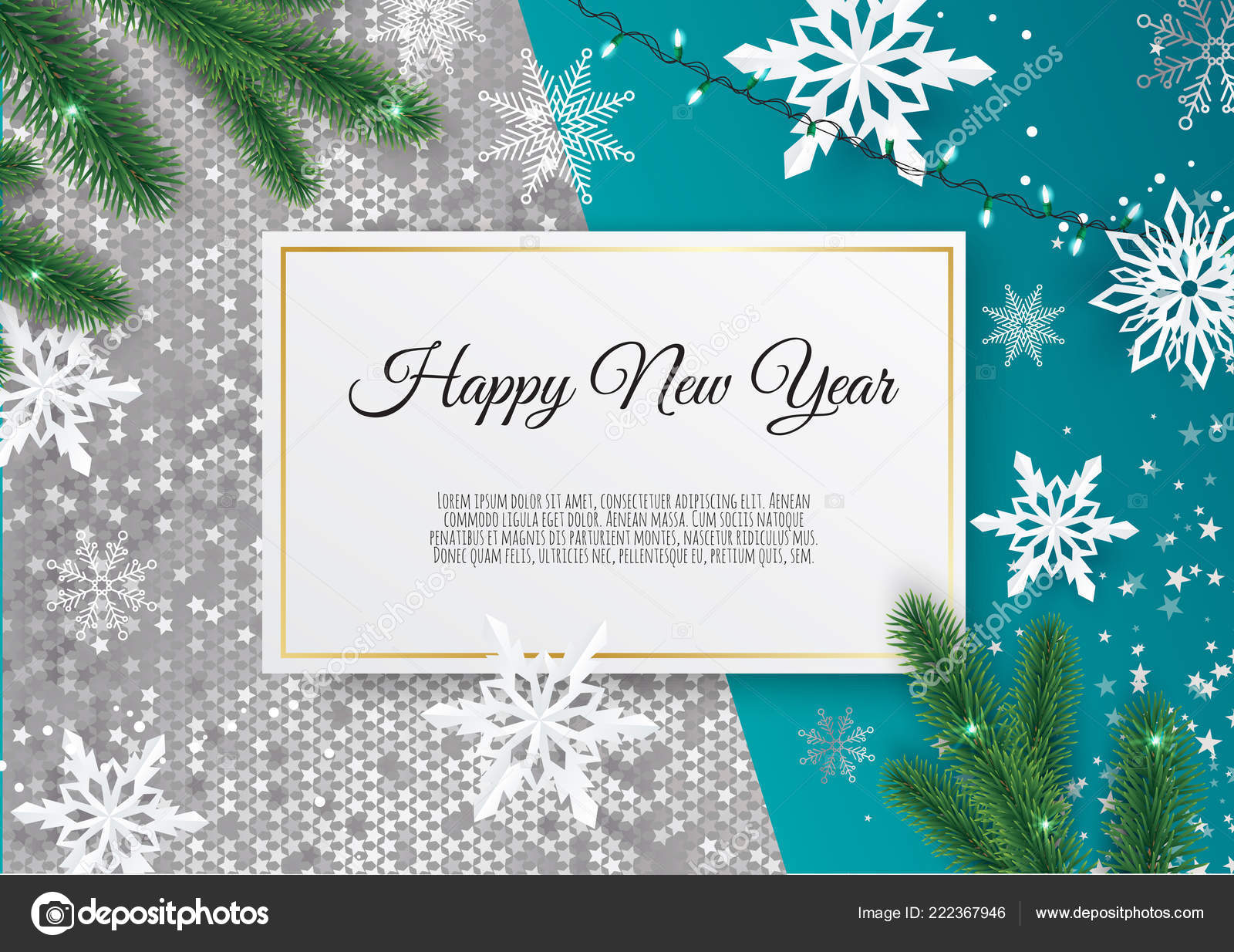 christmas and new year background with gold glitter texture xmas card vector illustration vector by anasteisha
