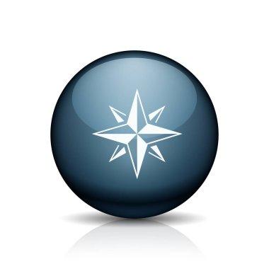 Compass flat style icon, vector illustration