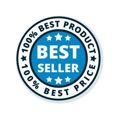 best seller label, vector, illustration