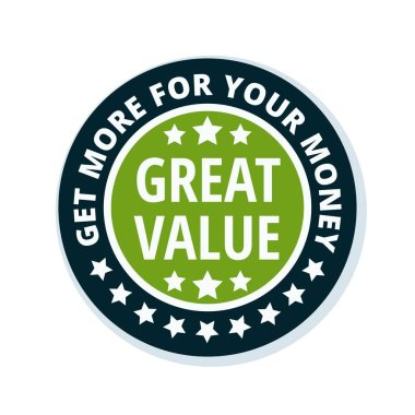 great value label, vector, illustration
