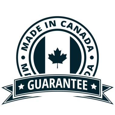 button with text Made in Canada and flag , Vector, illustration