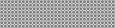 Abstract Pattern ornament of black  Dots, circles, on the white background, generative computational art illustration, the symmetric, geometric monochrome  backdrop