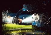 Fotografie Obraz brankář, který se snaží chytit míč