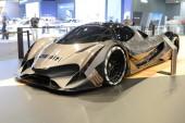 Dubaj, Spojené arabské emiráty - 17. listopadu: Supersport Devel šestnáct je v Dubaji Motor Show 2017 na 17 listopadu 2017