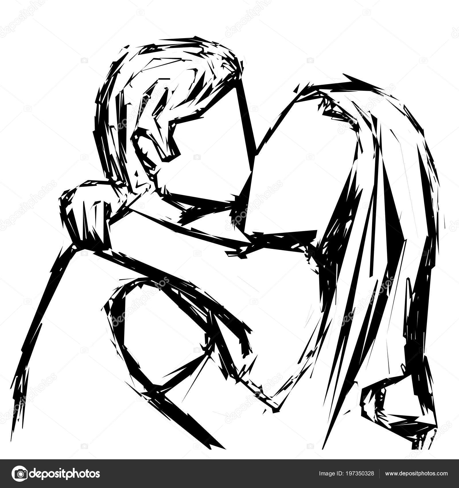 Images kissing sketch sketch of a kissing couple in love