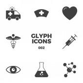 Fotografie Medical Glyph Icons Set
