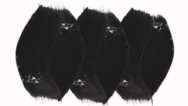 Rychlé předsazení sady rámců programu abstract Paint štětcem s kanálem alfa (průhlednost). Nakreslený texturu ručně Perfektní pro pohybové grafiky, promítání, přechody, vykreslí, Mattes, odkrýt.
