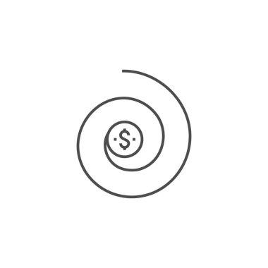 Return on Investment Line Icon