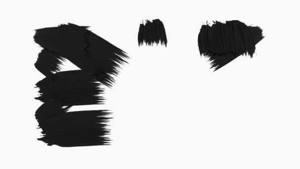 Frame-absztrakt Paint ecsetvonások átmenet feltár az alfa-csatorna