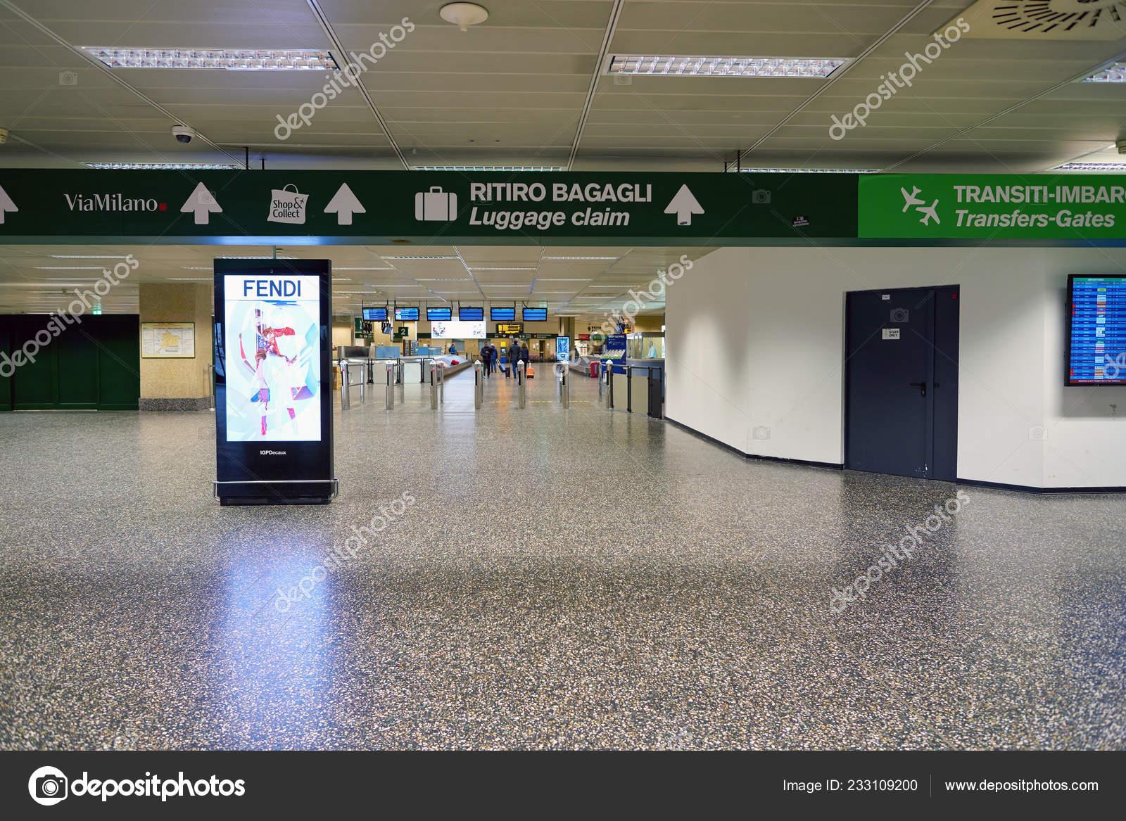 Milan Malpensa Italy Circa November 2017 Milan Malpensa Airport Terminal Stock Editorial Photo C Teamtime 233109200