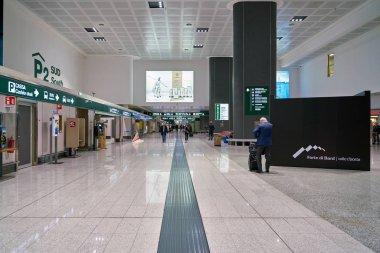 MILAN MALPENSA, ITALY - CIRCA NOVEMBER, 2017: inside Milan-Malpensa Airport, Terminal 1.
