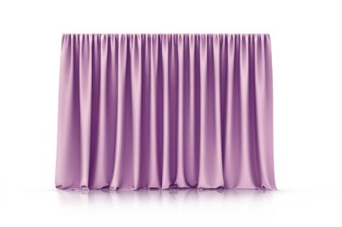 Curtains isolated on white background. 3d illustration