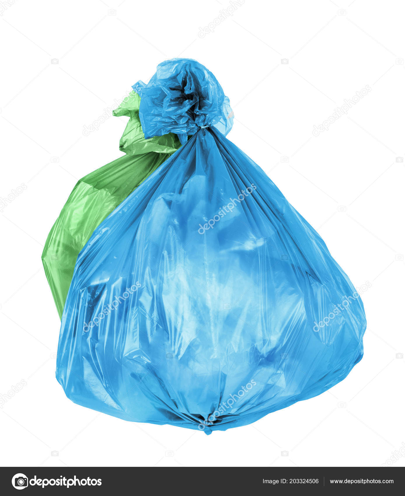 trash bags isolated white background ストック写真 urfingus