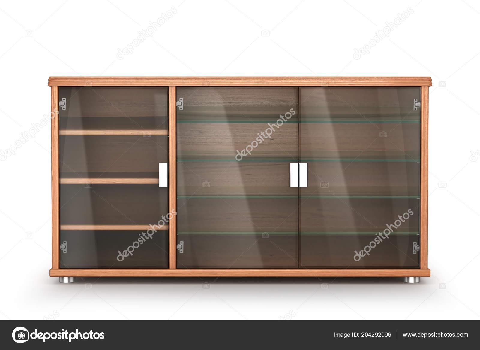 Ripiani In Legno Per Armadi : Mobili legno comodino armadio con ripiani vetro isolato sfondo