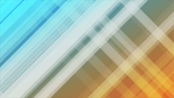 Modré a oranžové diagonální pruhy abstraktní video animace