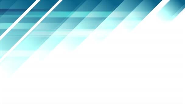 Blue tech minimal geometric abstract motion background. Seamless loop. Video animation Ultra HD 4K 3840x2160