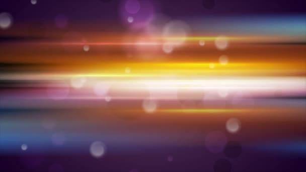 Színes izzó csíkok és a bokeh könnyű részecskék OVA epizódnak