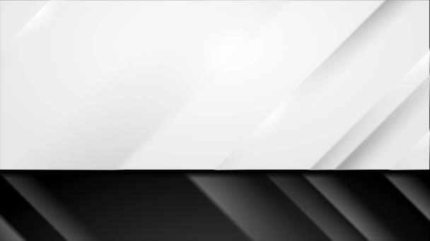Black and white modern smooth stripes video animation